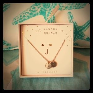 """LC Lauren Conrad """"J"""" Necklace and Earring Set"""